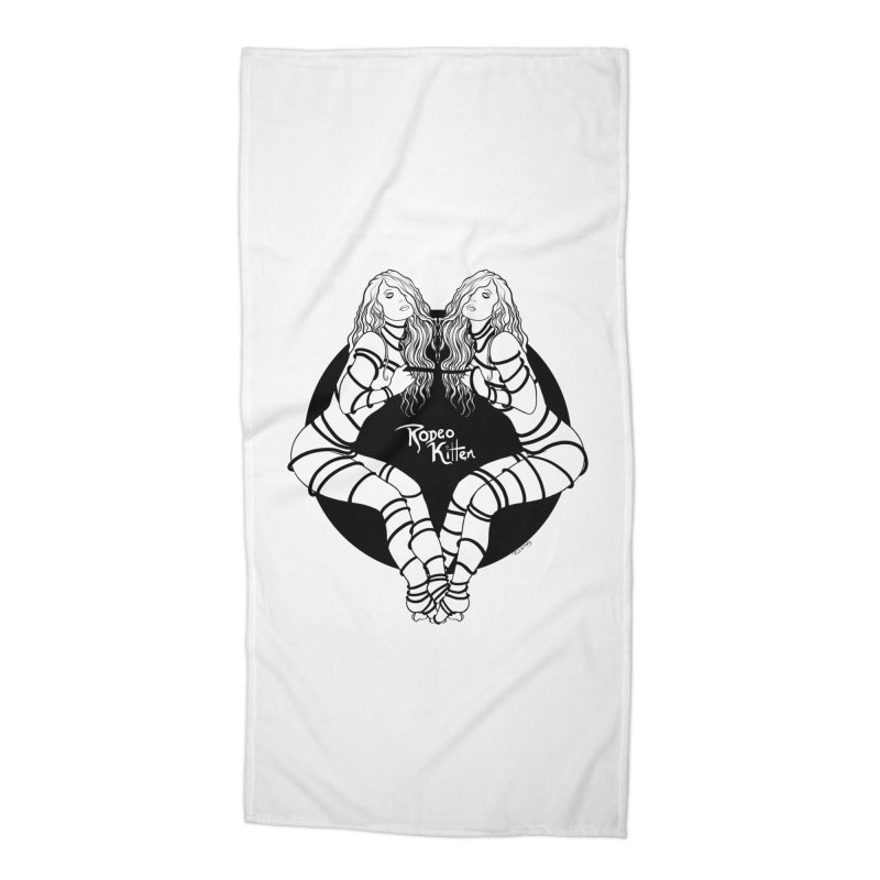 Seeing Double BW Accessories Beach Towel by Rodeo Kitten's Swag Shop