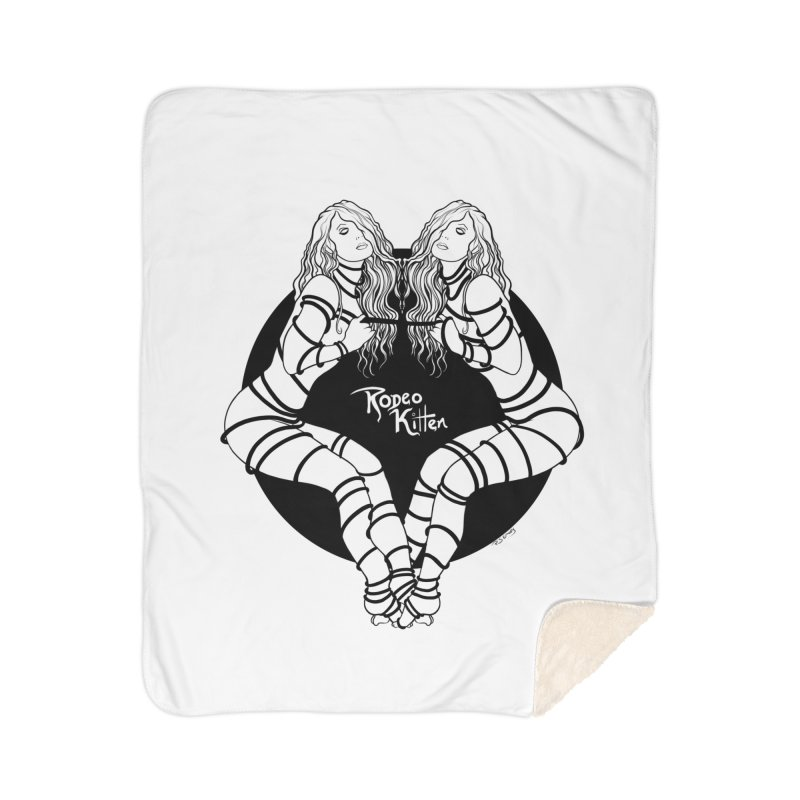 Seeing Double BW Home Blanket by Rodeo Kitten's Swag Shop