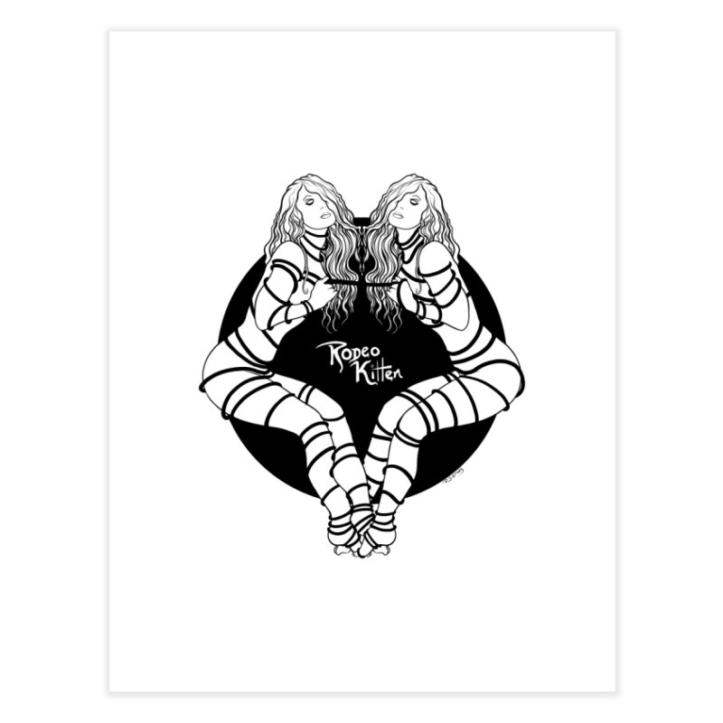 Seeing Double BW Home Fine Art Print by Rodeo Kitten's Swag Shop