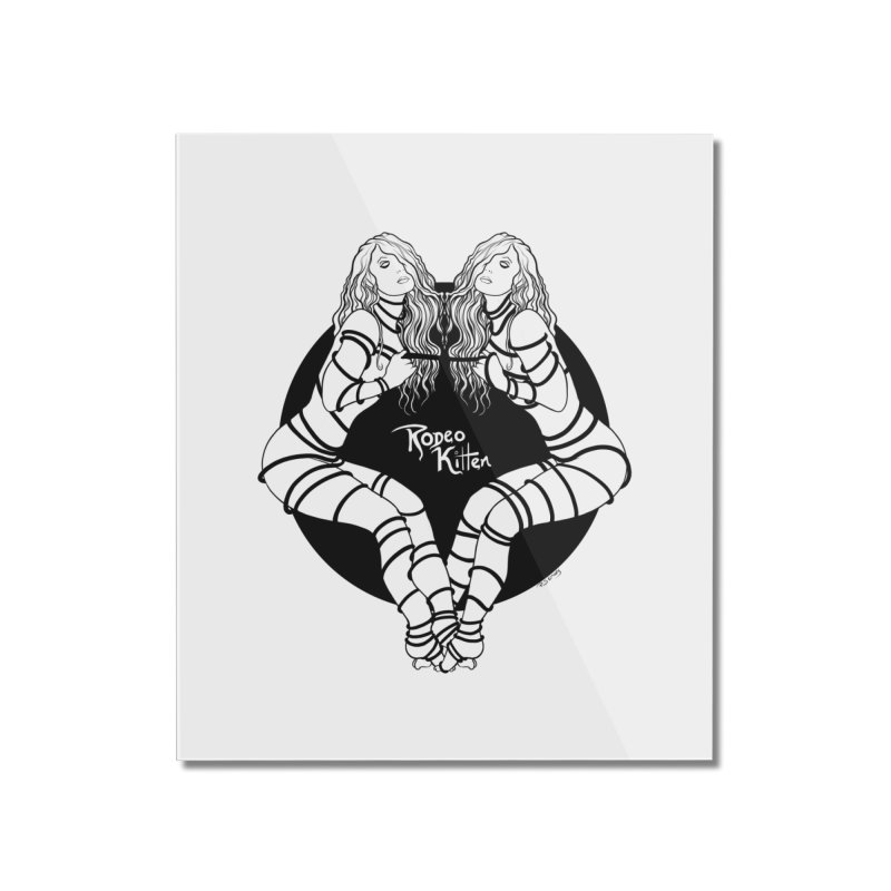 Seeing Double BW Home Mounted Acrylic Print by Rodeo Kitten's Swag Shop