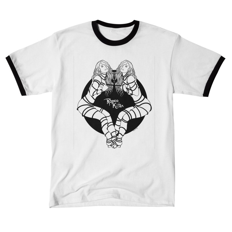 Seeing Double BW Men's T-Shirt by Rodeo Kitten's Swag Shop