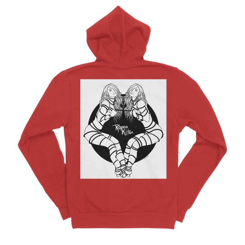 Seeing Double BW Men's Zip-Up Hoody by Rodeo Kitten's Swag Shop