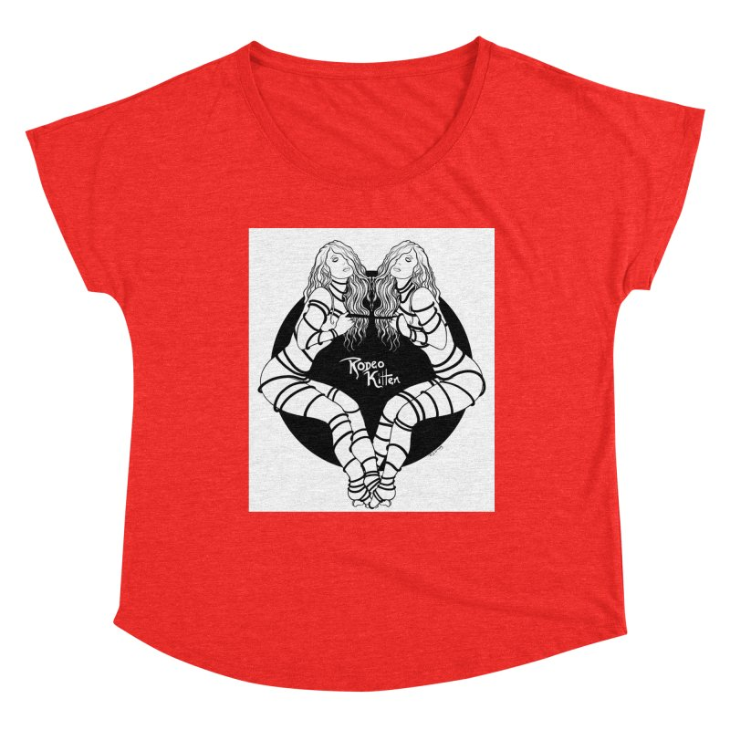 Seeing Double BW Women's Scoop Neck by Rodeo Kitten's Swag Shop