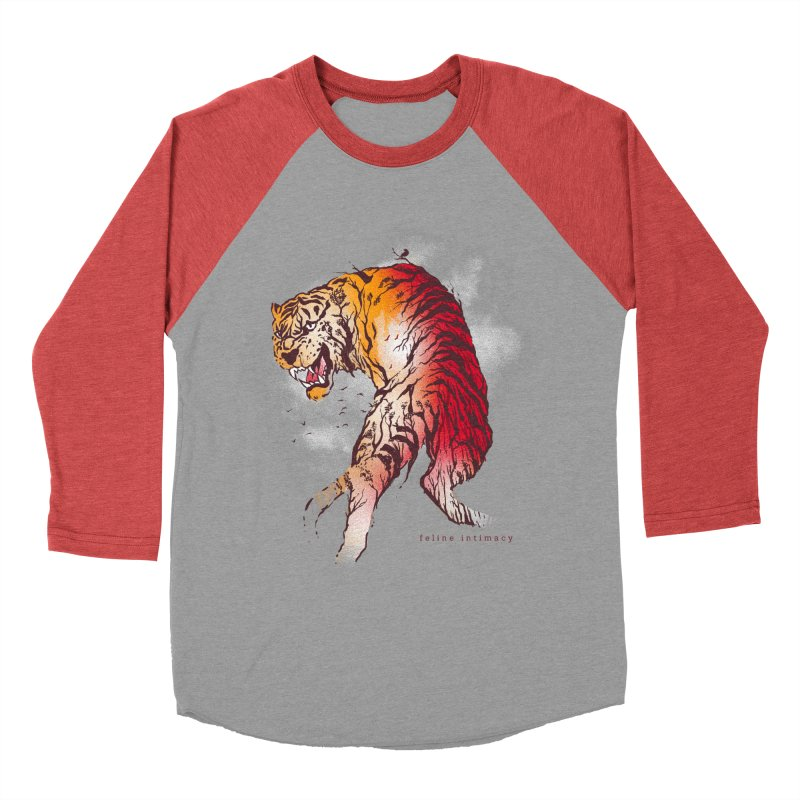 Feline Intimacy Men's Baseball Triblend T-Shirt by Rodisley's Artist Shop