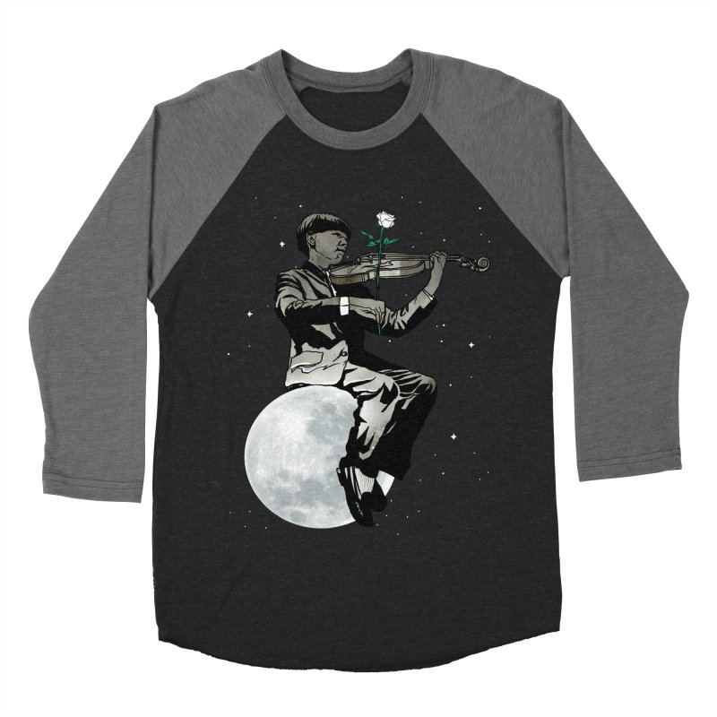 lunar music Men's Baseball Triblend T-Shirt by Rodisley's Artist Shop