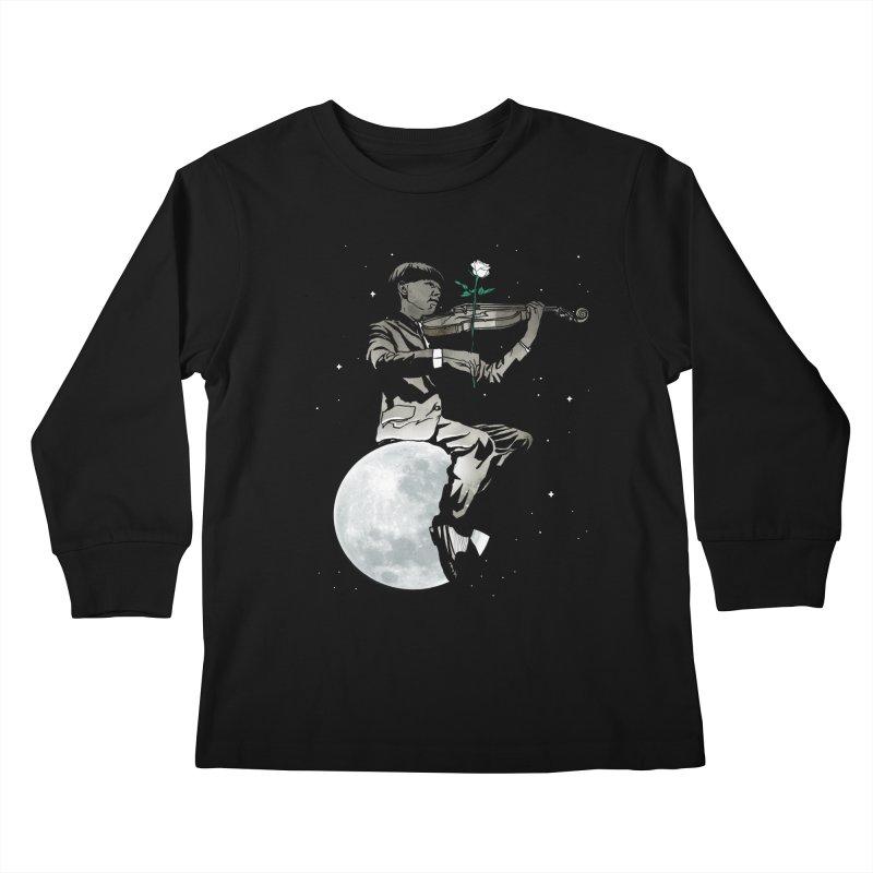 lunar music Kids Longsleeve T-Shirt by Rodisley's Artist Shop