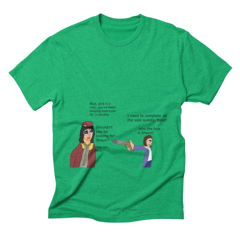 Side-Tracked (Fallout 4) Men's Triblend T-shirt by Roe's Shop