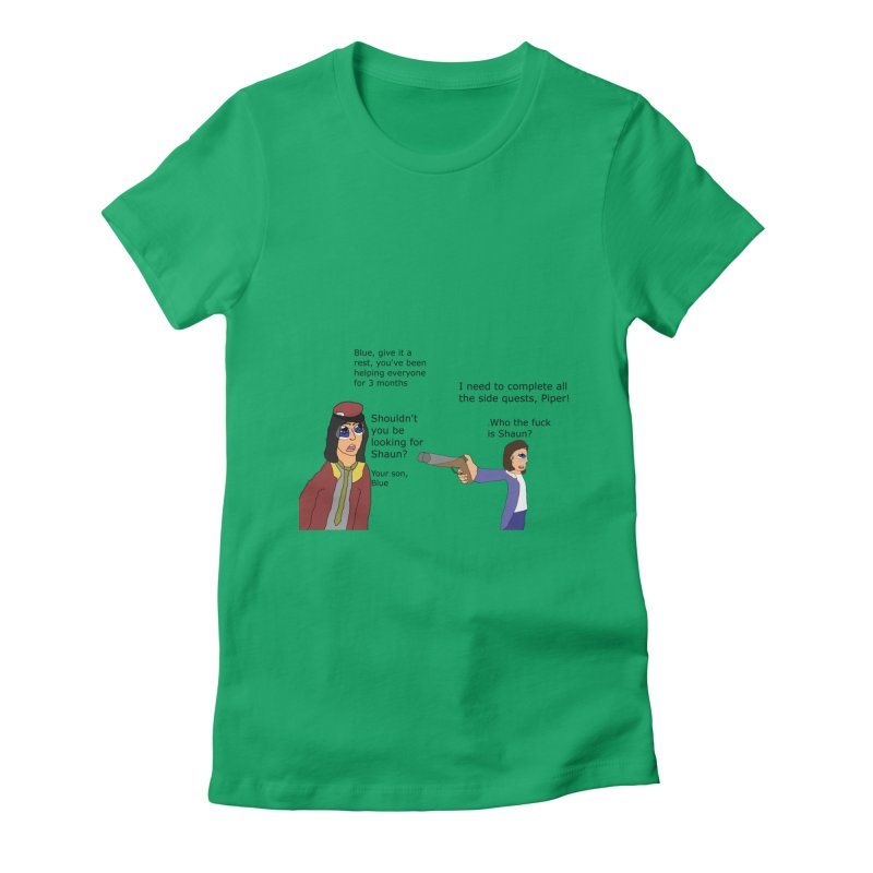 Side-Tracked (Fallout 4) Women's Fitted T-Shirt by Roe's Shop