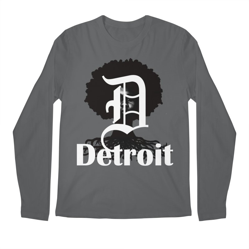 Rooted in Detroit Men's Longsleeve T-Shirt by Rooted