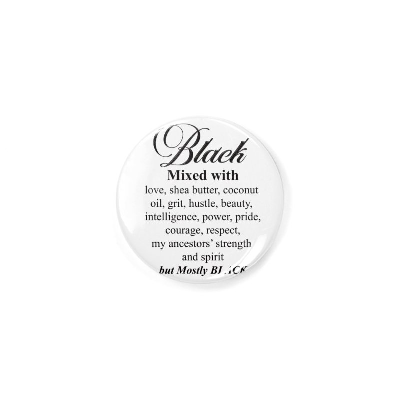 Black mixed with Black Accessories Button by Rooted