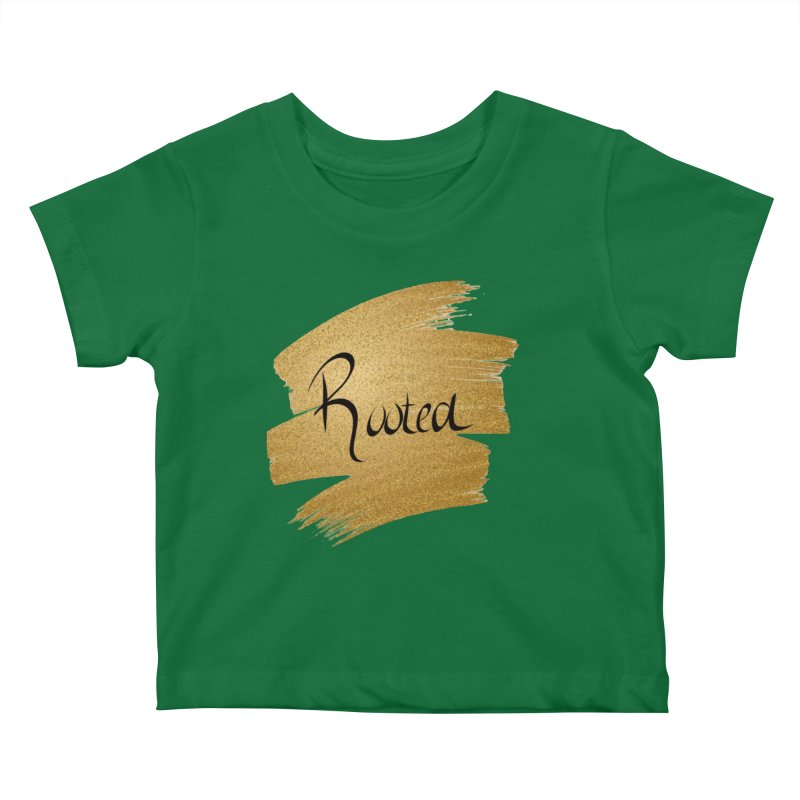 Golden Roots Kids Baby T-Shirt by Rooted