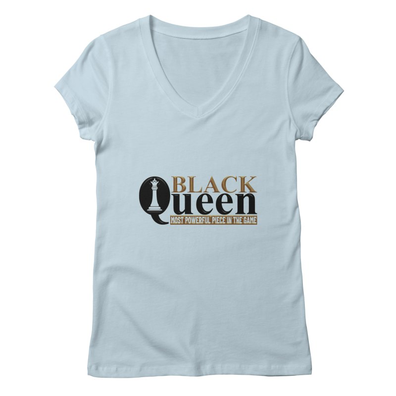 Black Queen Ladies V-Neck by Rooted