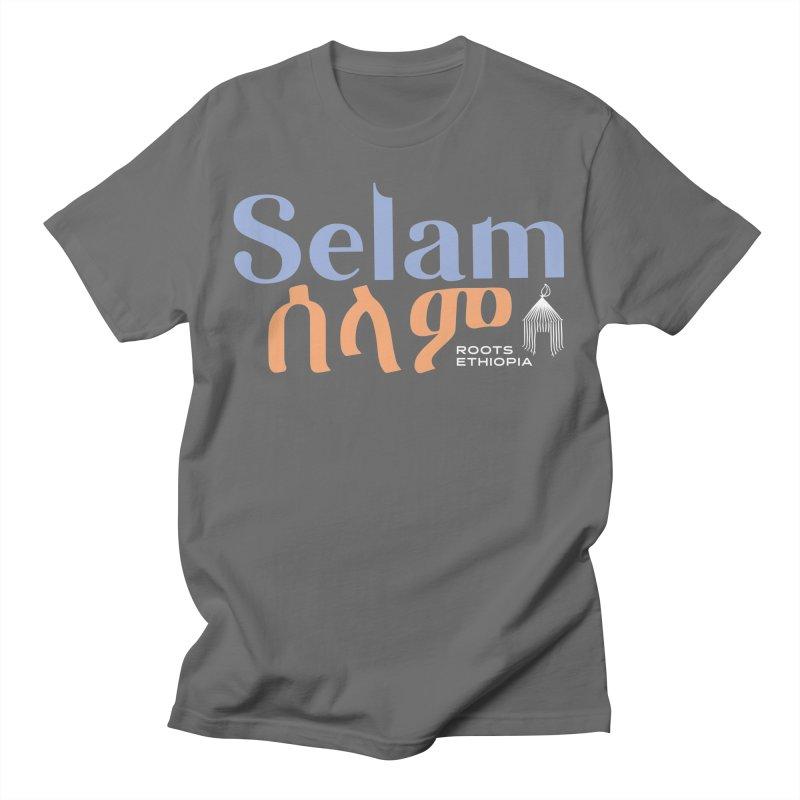 Selam in Blue & Orange Men's T-Shirt by Roots Ethiopia's Artist Shop