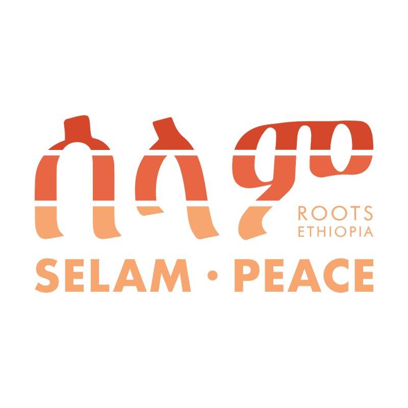 Selam & Peace in Orange Men's T-Shirt by Roots Ethiopia's Artist Shop