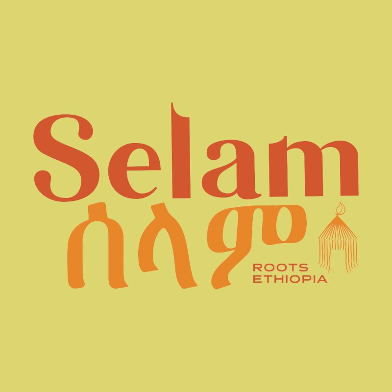 Selam in Orange & Gold Men's T-Shirt by Roots Ethiopia's Artist Shop