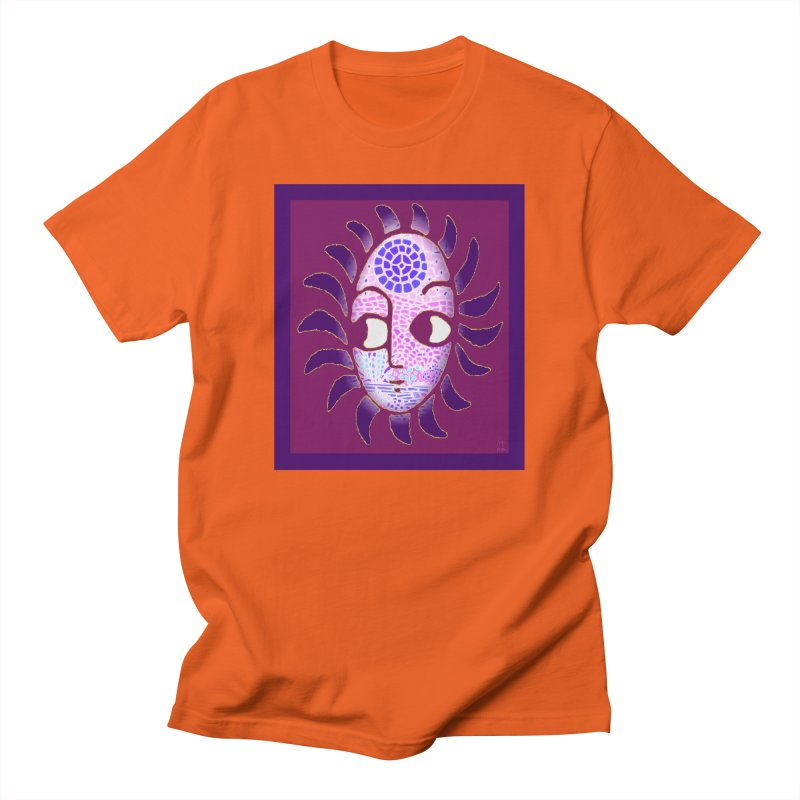 Tsehay 2 (Sun) by Ethiopian Artist Sewasew Meaza Men's T-Shirt by Roots Ethiopia's Artist Shop