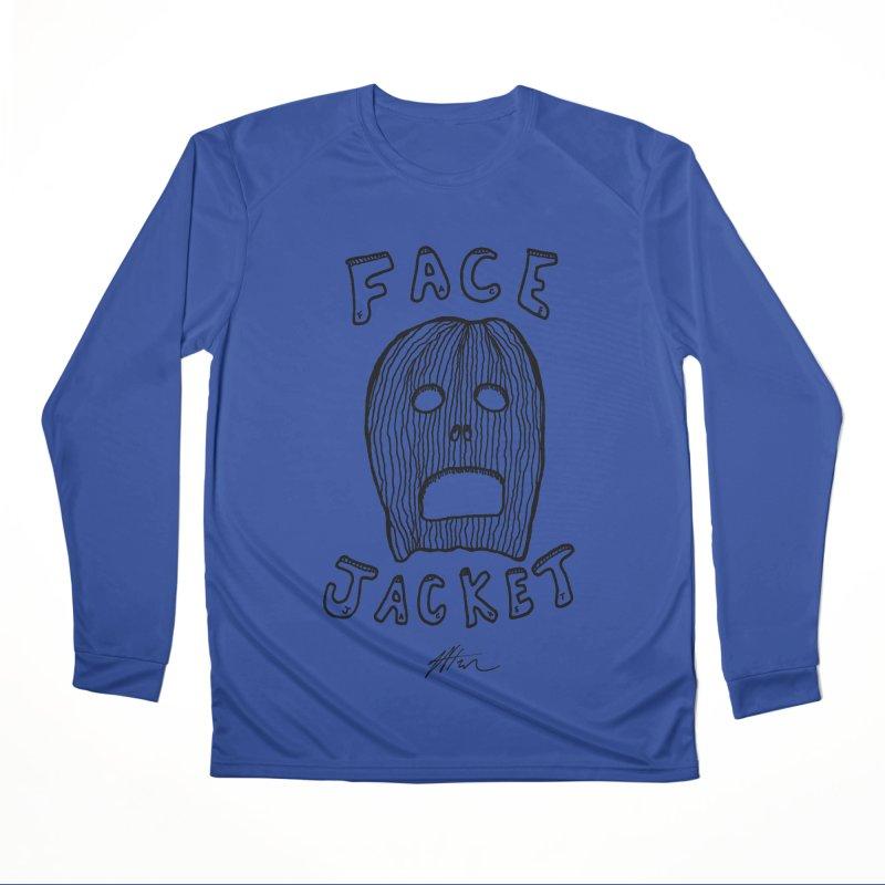 Face Jacket Men's Performance Longsleeve T-Shirt by Rorockll's Artist Shop
