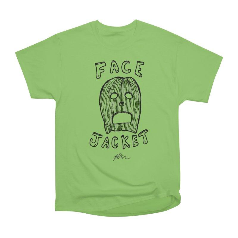 Face Jacket Men's Heavyweight T-Shirt by Rorockll's Artist Shop