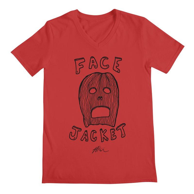 Face Jacket Men's Regular V-Neck by Rorockll's Artist Shop