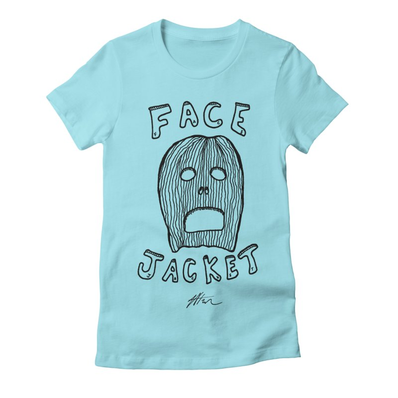Face Jacket Women's Fitted T-Shirt by Rorockll's Artist Shop
