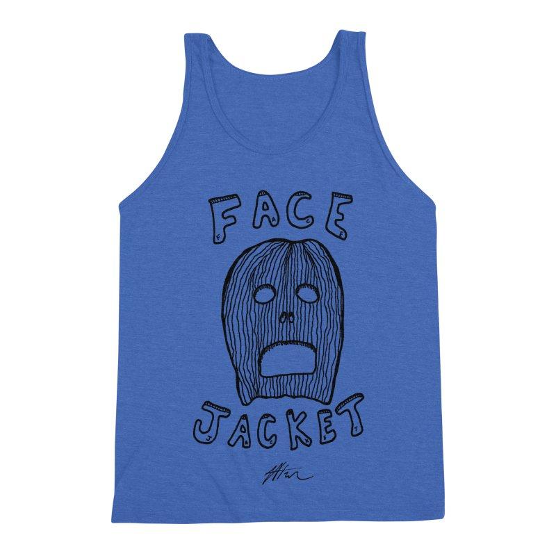 Face Jacket Men's Triblend Tank by Rorockll's Artist Shop