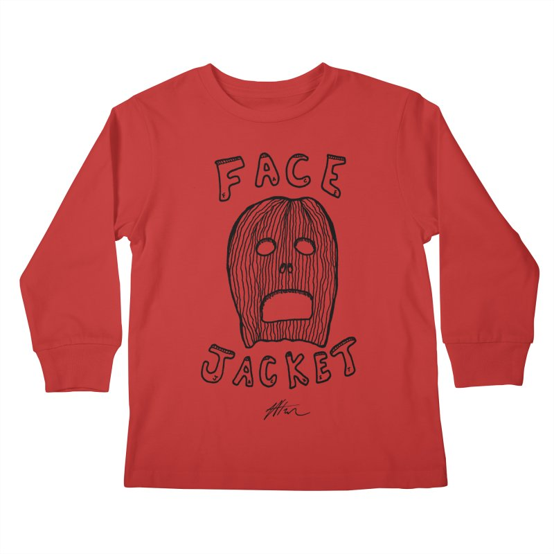 Face Jacket Kids Longsleeve T-Shirt by Rorockll's Artist Shop
