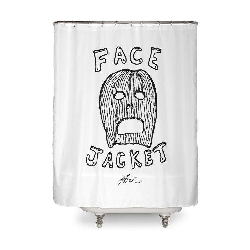 Face Jacket Home Shower Curtain by Rorockll's Artist Shop