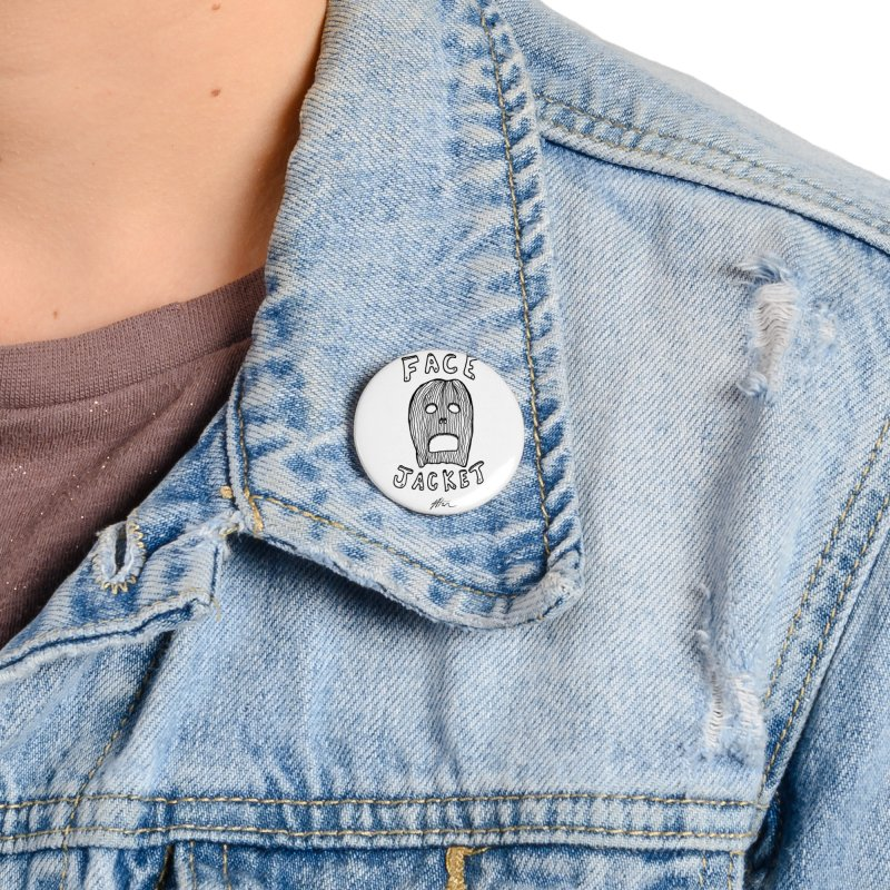 Face Jacket Accessories Button by Rorockll's Artist Shop