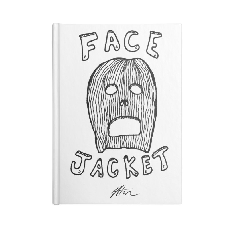 Face Jacket Accessories Notebook by Rorockll's Artist Shop