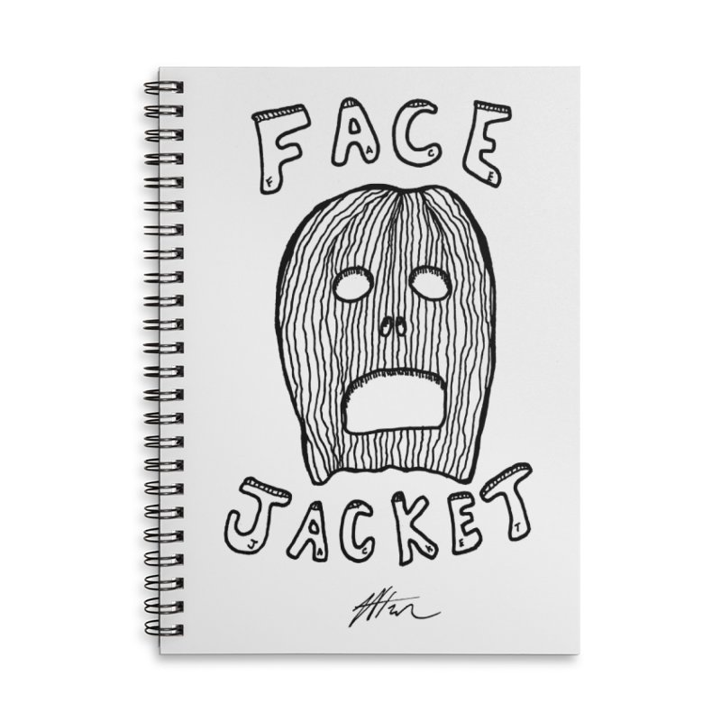 Face Jacket Accessories Lined Spiral Notebook by Rorockll's Artist Shop