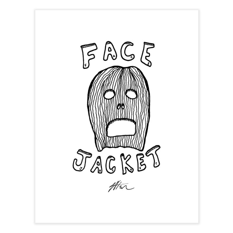 Face Jacket Home Fine Art Print by Rorockll's Artist Shop