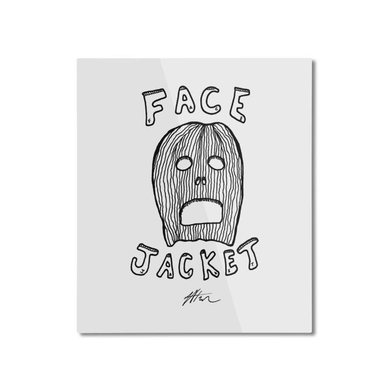 Face Jacket Home Mounted Aluminum Print by Rorockll's Artist Shop