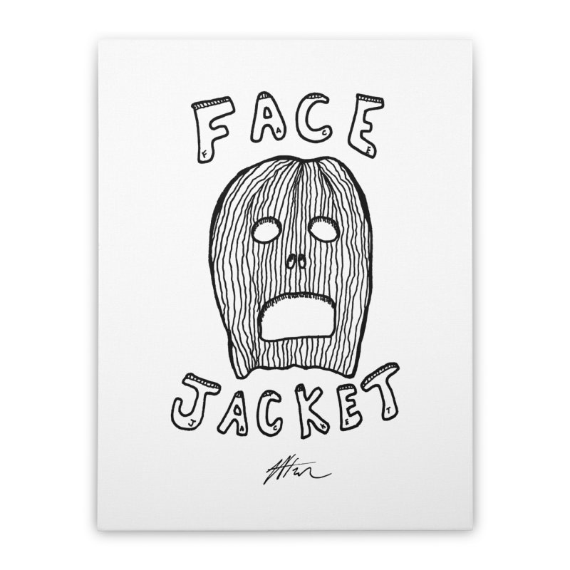 Face Jacket Home Stretched Canvas by Rorockll's Artist Shop