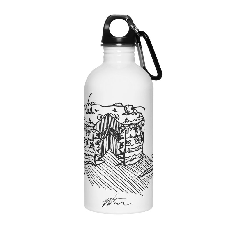 Bon Appéteeth Accessories Water Bottle by Rorockll's Artist Shop