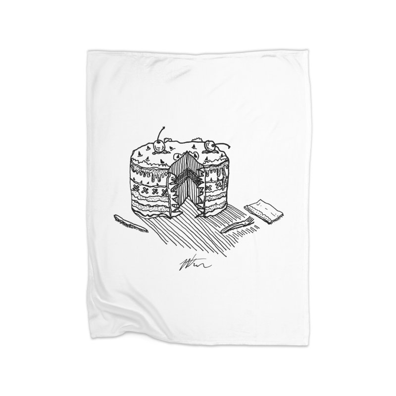 Bon Appéteeth Home Fleece Blanket Blanket by Rorockll's Artist Shop