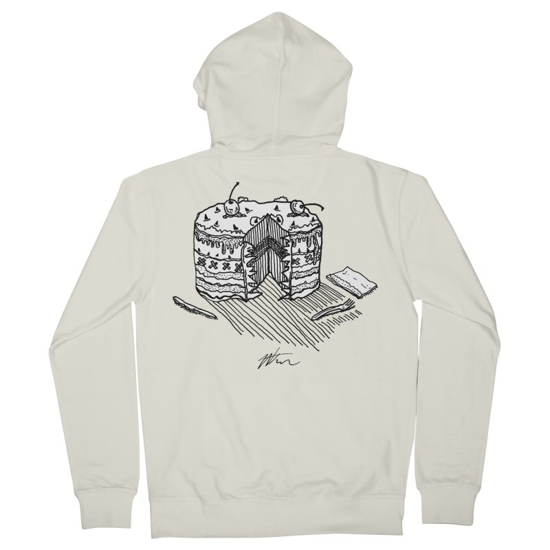 Bon Appéteeth Men's French Terry Zip-Up Hoody by Rorockll's Artist Shop