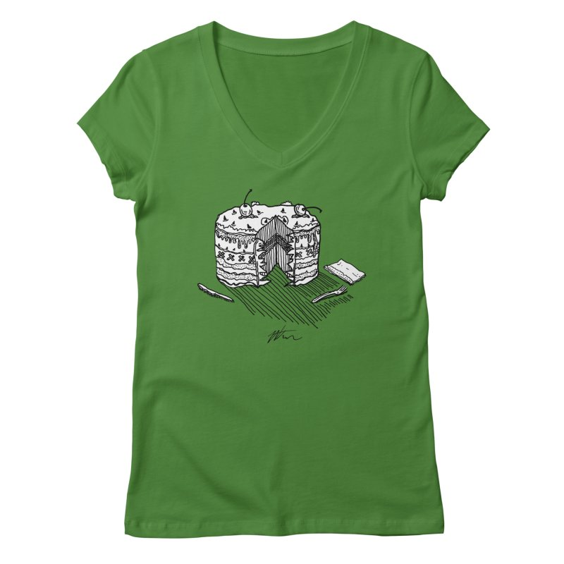 Bon Appéteeth Women's Regular V-Neck by Rorockll's Artist Shop