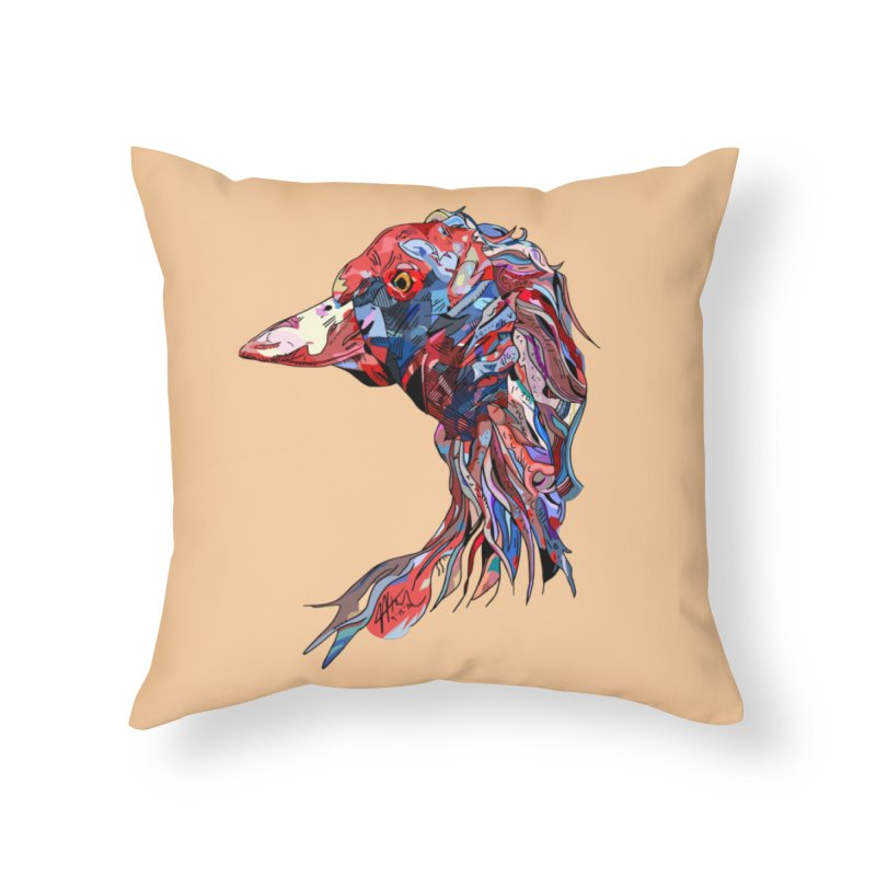 Wisconsin Home Throw Pillow by Rorockll's Artist Shop