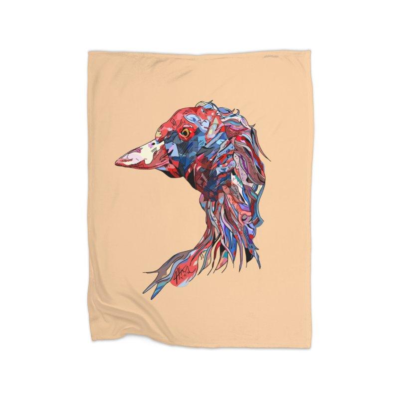 Wisconsin Home Fleece Blanket Blanket by Rorockll's Artist Shop