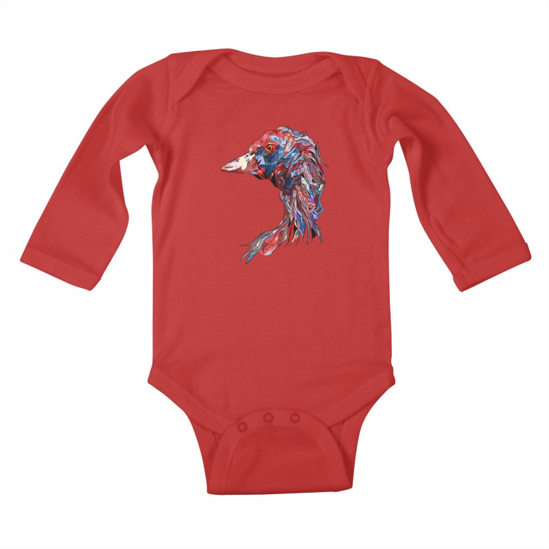 Wisconsin Kids Baby Longsleeve Bodysuit by Rorockll's Artist Shop