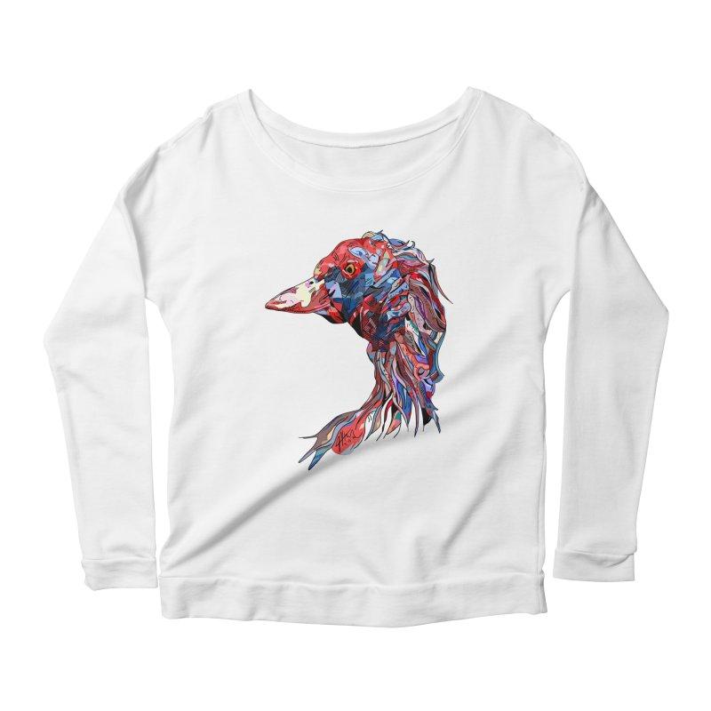 Wisconsin Women's Scoop Neck Longsleeve T-Shirt by Rorockll's Artist Shop