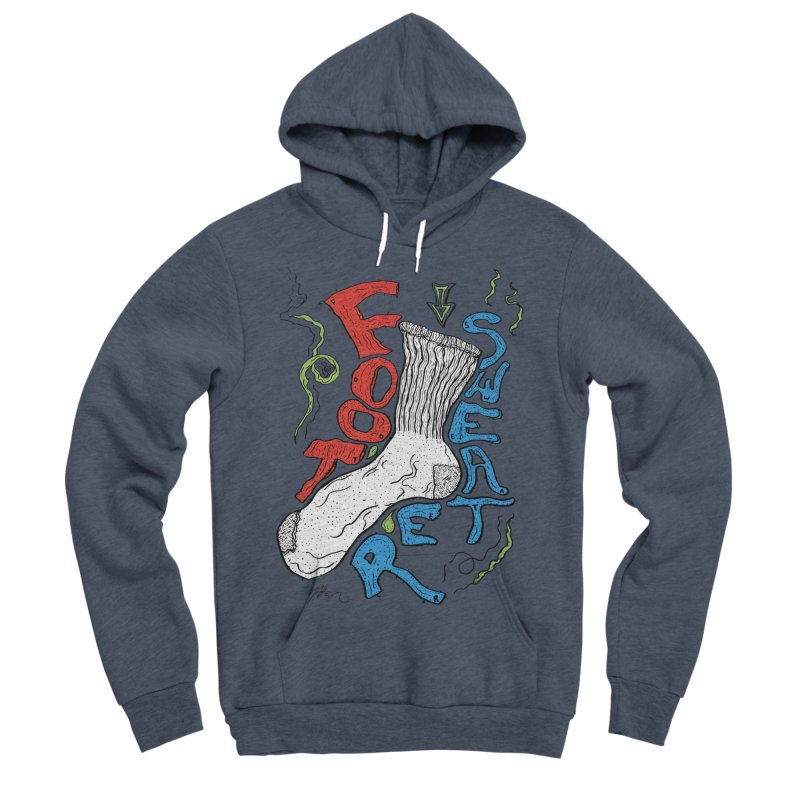 Foot Sweater Men's Sponge Fleece Pullover Hoody by Rorockll's Artist Shop