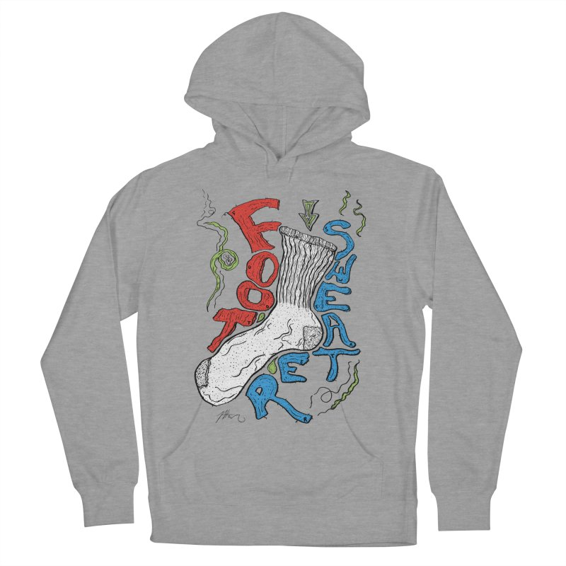 Foot Sweater Women's French Terry Pullover Hoody by Rorockll's Artist Shop
