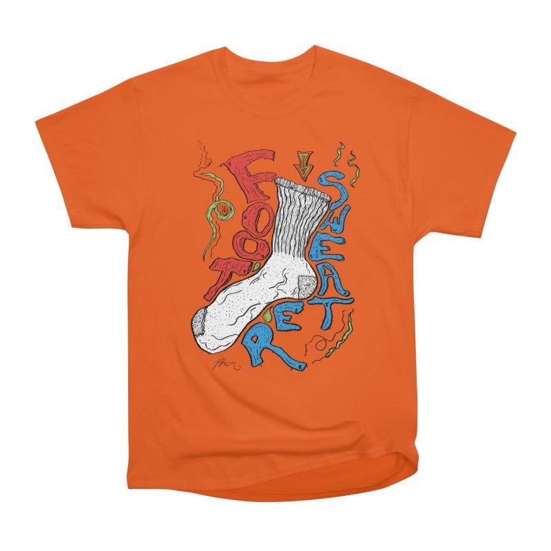 Foot Sweater Women's Heavyweight Unisex T-Shirt by Rorockll's Artist Shop