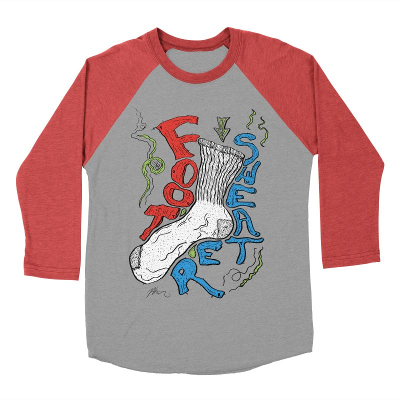 Foot Sweater Men's Baseball Triblend Longsleeve T-Shirt by Rorockll's Artist Shop