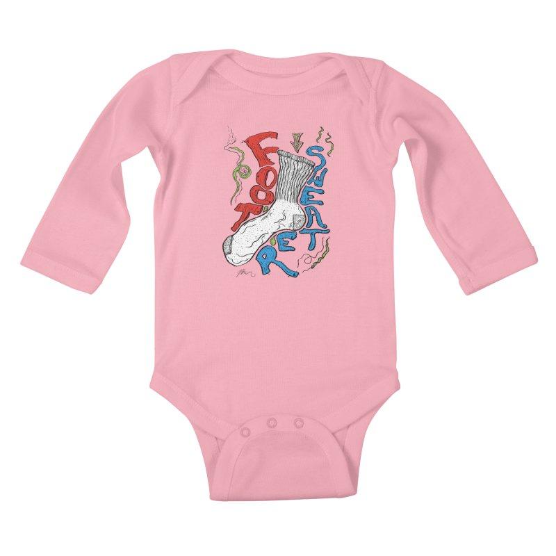 Foot Sweater Kids Baby Longsleeve Bodysuit by Rorockll's Artist Shop