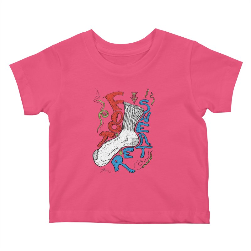 Foot Sweater Kids Baby T-Shirt by Rorockll's Artist Shop
