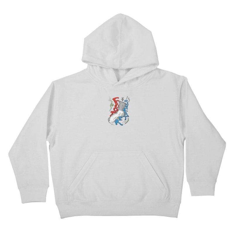 Foot Sweater Kids Pullover Hoody by Rorockll's Artist Shop