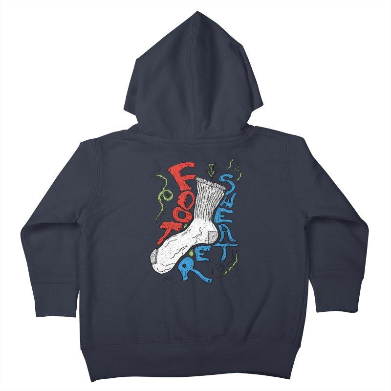 Foot Sweater Kids Toddler Zip-Up Hoody by Rorockll's Artist Shop