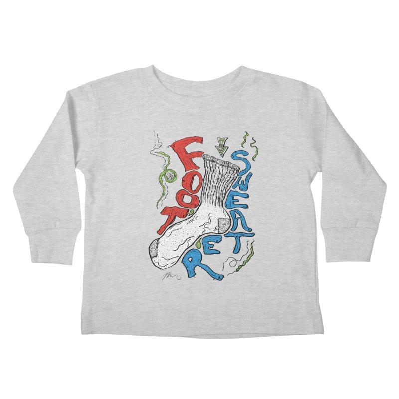 Foot Sweater Kids Toddler Longsleeve T-Shirt by Rorockll's Artist Shop